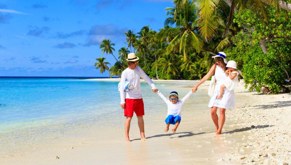 Family in the Maldives