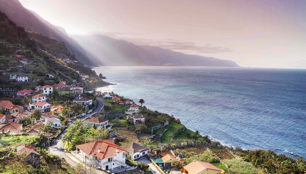 Coast meets town, Madeira