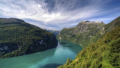 Geirangerfjord in the Sunshine
