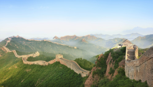 The Great Wall Stretching over the Hills - China