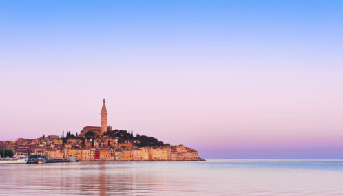 Sunset over Istria in Croatia