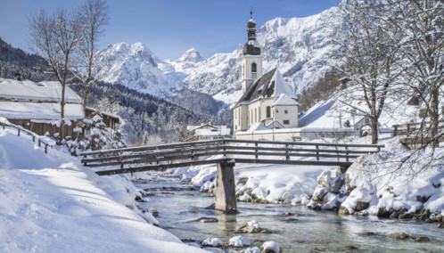 Alpine church in Austria