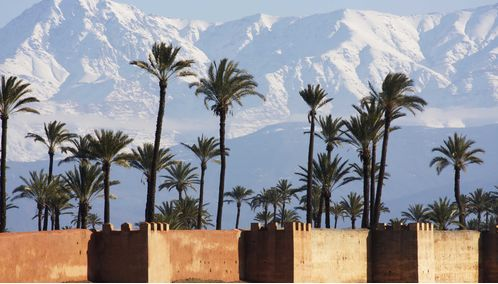 View towards the Atlas Mountains