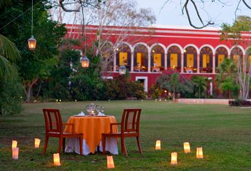 Private dining at Hacienda Temozon, luxury hotel in Mexico