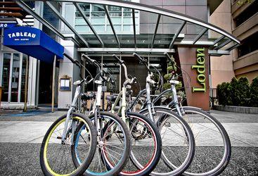 Loden exterior and cruiser bikes