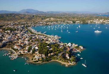 Porto Heli destination aerial view
