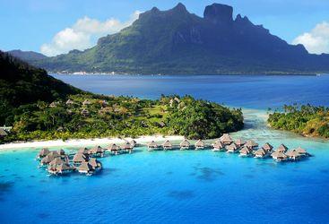 Hilton Bora Bora aerial view