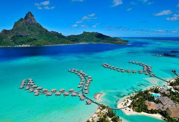 Intercontinental Bora Bora aerial view