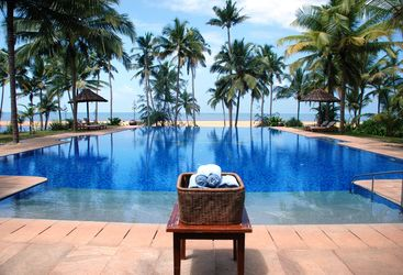 pool at Neeleshwar Hermitage, luxury hotel in India