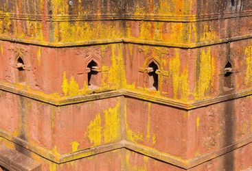 St George's Church Windows in Lalibela