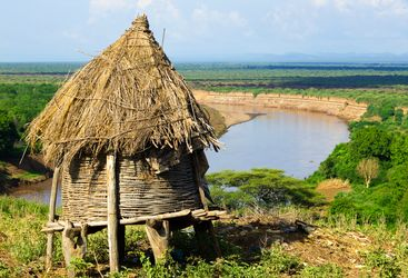 A Harmer Hut in South Ethiopia