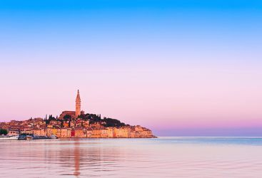 Sunset over Istria in Croatia