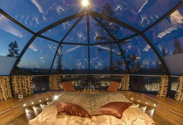 Interior shot at the Levi Igloos