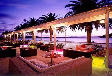 The water terrace at Hotel Riva, luxury hotel in Croatia