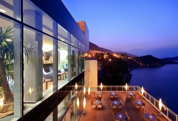 View from Hotel Bellevue, luxury hotel in Croatia