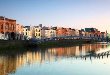 An image of the colourful Irish capital city, Dublin