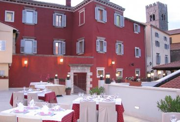 Terrace restaurant at Hotel Kastel, luxury hotel in Croatia