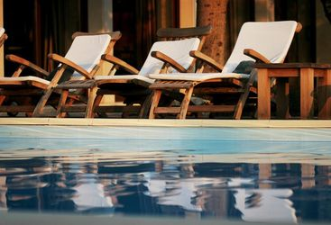 The pool at San Rocco, luxury hotel in Croatia