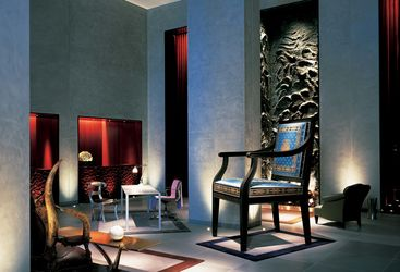 Lobby at Clift Hotel, luxury hotel in San Francisco, Big Sur