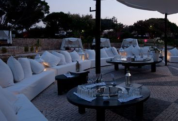 The outdoor lounge bar at Puro hotel, luxury hotel in Spain