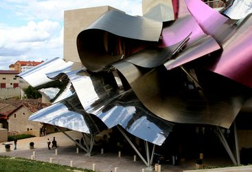 Exterior design at Hotel Marques de Riscal, luxury hotel in Spain