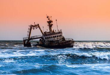Shipwreck at Skeleton Coast