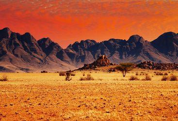 Desert rocks and dunes