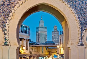 Arch detailing in Fez