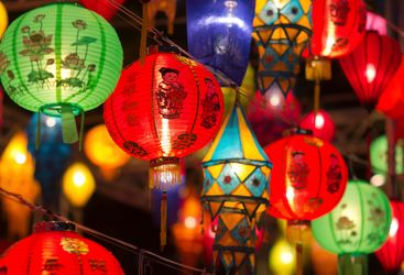 Bright Lanterns in Singapore