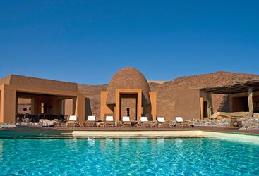 The pool at  Okahirongo Elephant Lodge, luxury lodge in Namibia