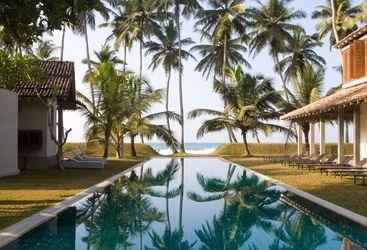 The pool at Frangipani Tree, luxury hotel in Sri Lanka