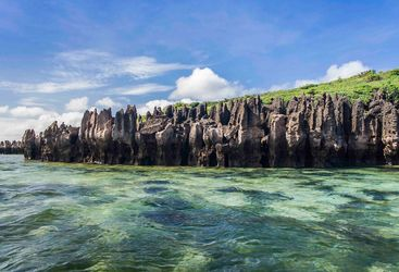 The Tsingy Overlooking the Water in Madagascar
