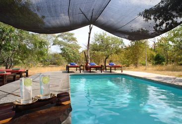The camp pool at Siwandu, luxury camp in Tanzania