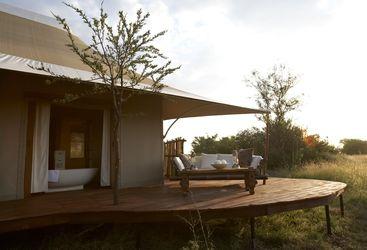Terrace at the Sayari Camp, luxury camp in Tanzania