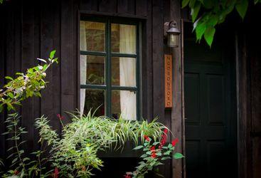 Window at Gibbs Farm, luxury farm in Tanzania