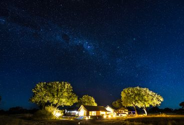 Linkwasha camp and milky way