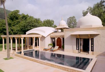 Pool Pavillion at Amanbagh, luxury hotel in India
