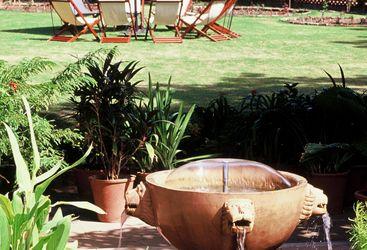 Garden at Rohet Garh, luxury hotel in India