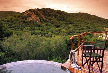 Pool with view at Phinda, luxury hotel in South Africa
