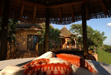 View of Villa at Thanda Private Game reserve, luxury hotel in South Africa