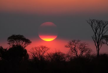 Amazing Red Skies of Namibia by Sunset