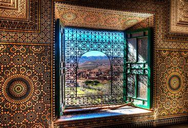 Window opened towards Berber village