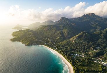 A Seychelles island from above