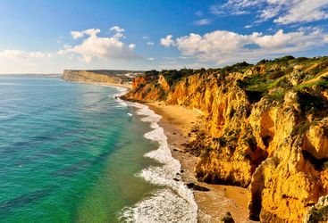 The Algarve coastline