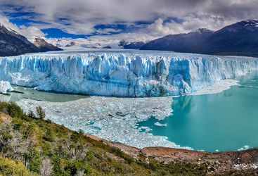 Alaskan glacier in summer