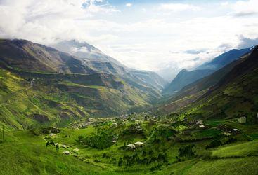 Ecuador mountain landscape