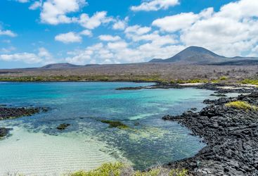 A bay in the Galapagos