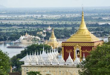 Mandalay temple roofs