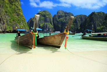 Boats on Maya Bay, Phuket Island