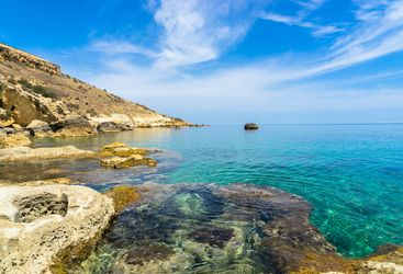 Rocky coastline of Gozo